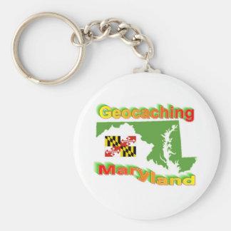 Geocaching Maryland Keychain