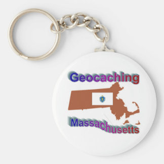 Geocaching Massachusetts Keychain