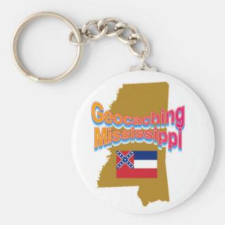 Geocaching Mississippi Keychain