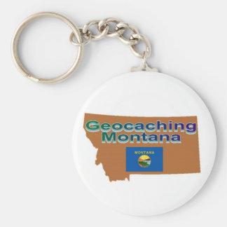 Geocaching Montana Keychain