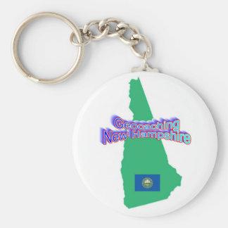 Geocaching New Hampshire Keychain