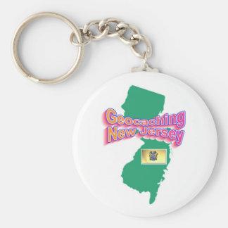 Geocaching New Jersey Keychain