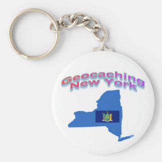 Geocaching New York Keychain