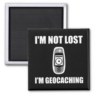 Geocaching no perdido imán cuadrado