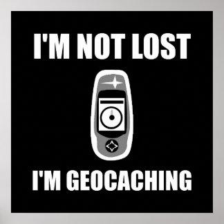 Geocaching no perdido póster