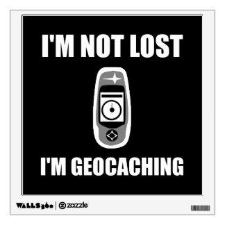 Geocaching no perdido vinilo adhesivo