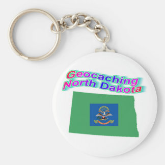 Geocaching North Dakota Keychain