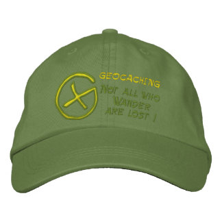 GEOCACHING  , Not all who ,... Embroidered Baseball Cap