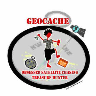 Geocaching obsesionó el satélite adorno fotoescultura