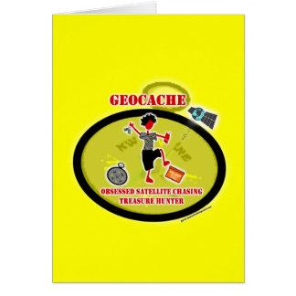Geocaching obsesionó el satélite tarjeta de felicitación