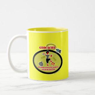 Geocaching obsesionó el satélite tazas de café