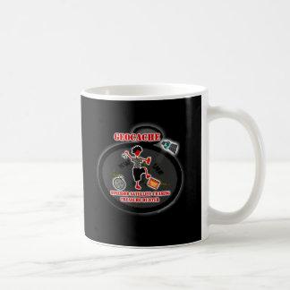 Geocaching obsesionó el satélite taza de café