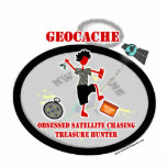 Geocaching  Obsessed Satellite Acrylic Cut Outs