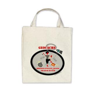 Geocaching  Obsessed Satellite Tote Bag