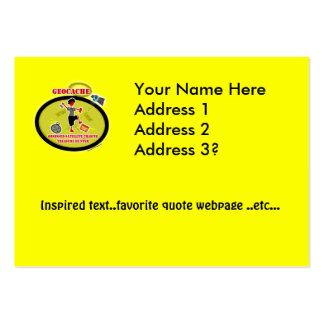 Geocaching  Obsessed Satellite Business Cards