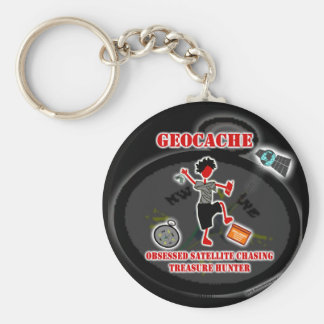 Geocaching  Obsessed Satellite Keychains