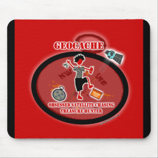 Geocaching  Obsessed Satellite Mouse Pad