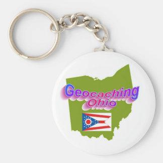Geocaching Ohio Keychain