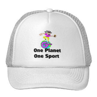 Geocaching one planet one sport trucker hats