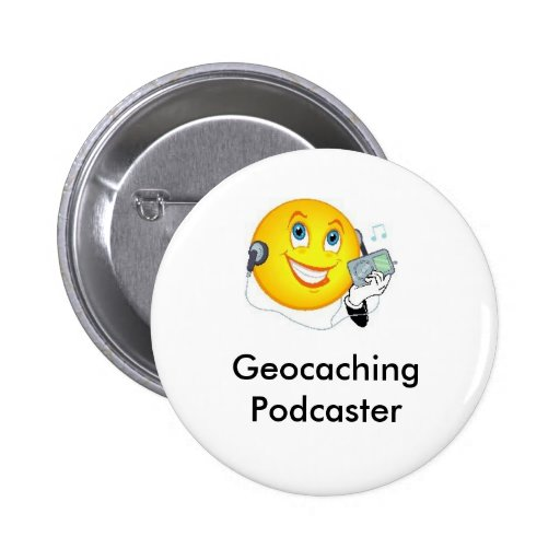 Geocaching Podcaster Swag Pin