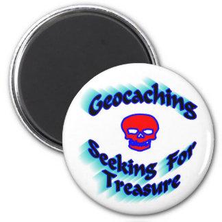 Geocaching que busca para el tesoro imán redondo 5 cm