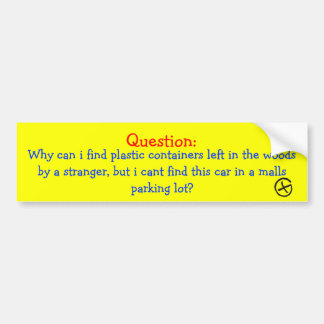 Geocaching Question Bumper Sticker