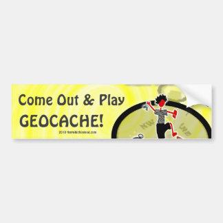 ¿Geocaching quiere jugar? Pegatina Para Auto