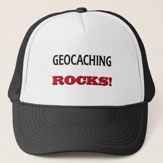 Geocaching Rocks Trucker Hat