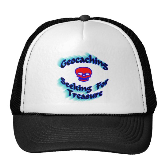 Geocaching Seeking For Treasure Trucker Hat
