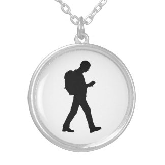 Geocaching Silver Plated Necklace