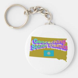 Geocaching South Dakota Keychain