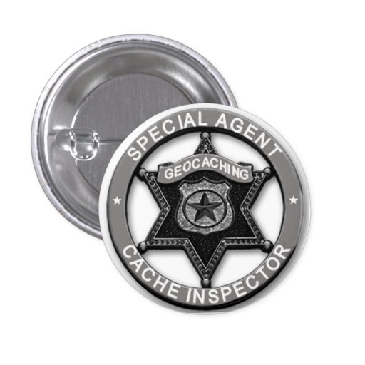 Geocaching *Special Agent* Cache Inspector Badge Pin