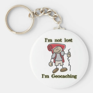 Geocaching Stickman Funny Keychain Geocacher Swag