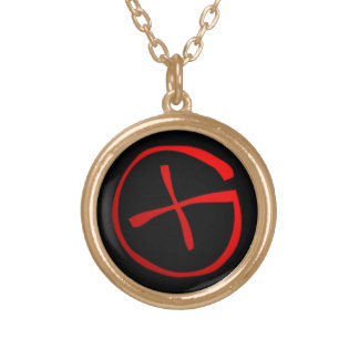 Geocaching Symbol Gold Plated Necklace