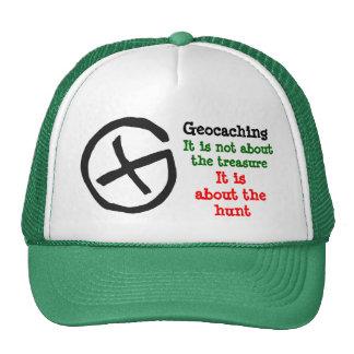Geocaching symbol trucker hat