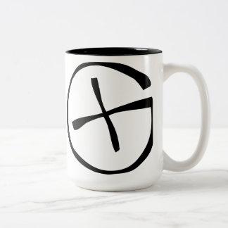 Geocaching Symbol Two-Tone Coffee Mug