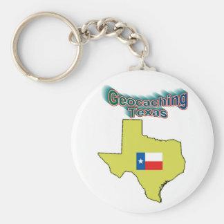 Geocaching Texas Keychain