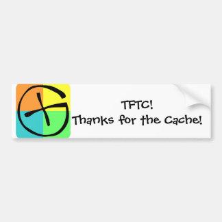 Geocaching TFTC -Bumpersticker Bumper Sticker