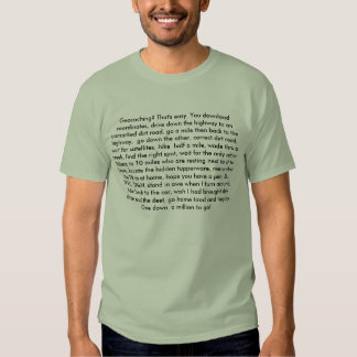 Geocaching? That's easy. Tees