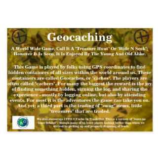 Geocaching Trail Card - By: WV Little Eagle Large Business Card