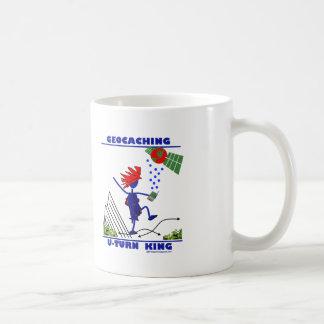 Geocaching U Turn King Classic White Coffee Mug