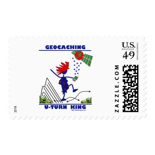 Geocaching U Turn King Postage