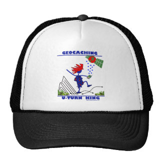 Geocaching U Turn King Trucker Hat