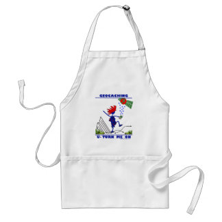 Geocaching U Turn Me On Adult Apron