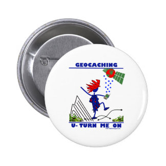 Geocaching U Turn Me On Pins