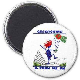 Geocaching U Turn Me On Magnet