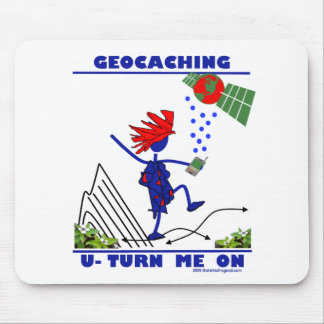 Geocaching U Turn Me On Mouse Mat