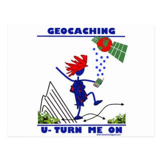 Geocaching U Turn Me On Post Cards