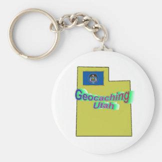Geocaching Utah Keychain