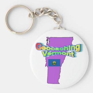 Geocaching Vermont Keychain